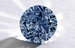 "This 7.59-carat fancy blue vivid diamond ""embodies the best and rarest attributes of a blue diamond,"" Sotheby's said. The stone will be up for auction Oct. 7 in Hong Kong."
